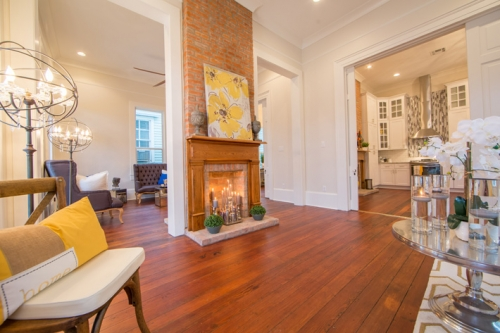 Bayou St. John Single Family Renovation Living Room and Den