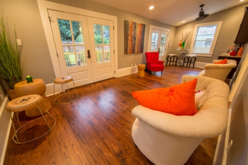 Bayou St. John Single Family Renovation Entertainment Room