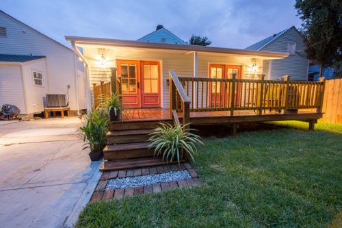 Bayou St. John Single Family Renovation Backyard