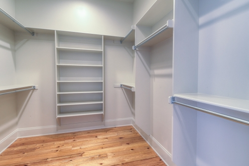 Irish Channel Greek Revival Single Family Residence walk-in closet