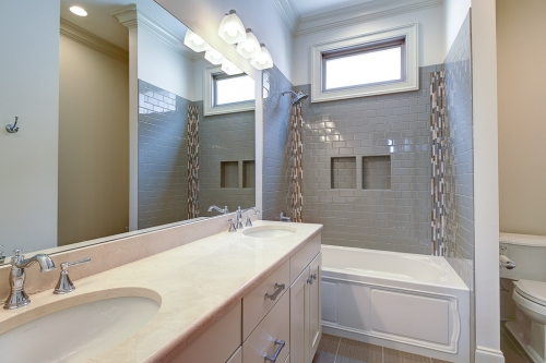 Irish Channel Greek Revival Single Family Residence master bath