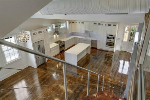 Open plan with living, dining, and kitchen