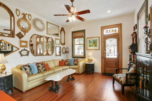 Living room of St. Roch cottage renovation and addition