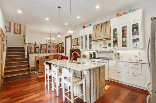 Kitchen of St. Roch cottage renovation and addition