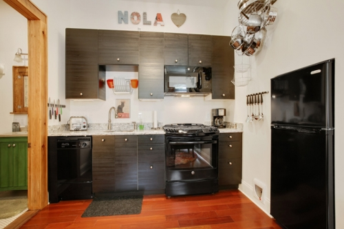 Kitchenette of guest suite in St. Roch cottage renovation and addition