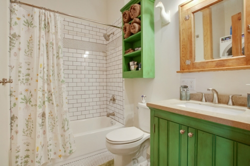 Guest bath in St. Roch cottage renovation and addition
