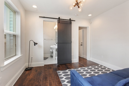 Guest Suite with Barn Door Bathroom