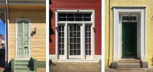Historic wood doors in the French Quarter