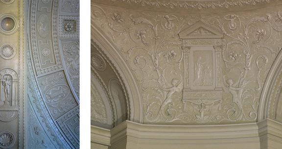 Ornamental plaster in John Minor Courthouse photographed by Carol Highsmith