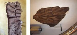 Examples of damaged historic plaster in New Orleans