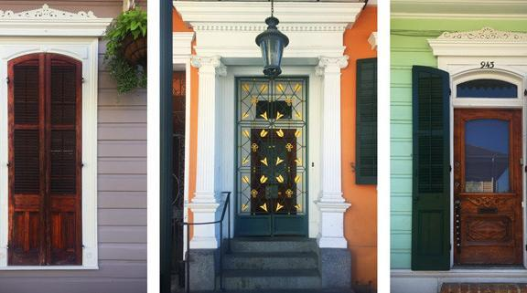 Historic wood doors in New Orleans