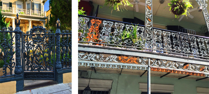 Historic cast iron in French Quarter