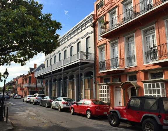 Balconies and canopies, both common forms of enroachments in the French Quarter, New Orleans