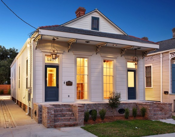 Bayou St. John Single Family Renovation front porch